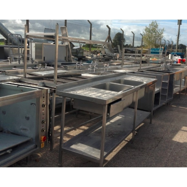 Used Stainless Steel Sinks Tables